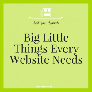Big little things every website needs