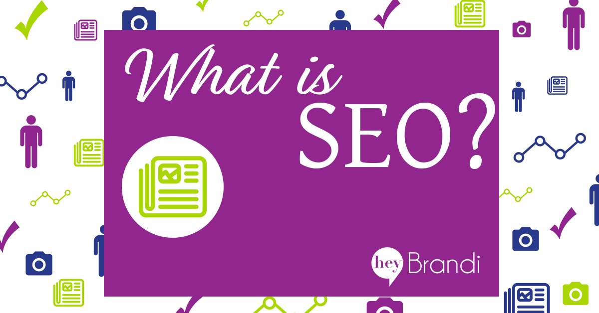 SEO, or Search Engine Optimization is the activities you can take on your blog or website to increase it's visibility in popular search engines like Google, Bing, and even Pinterest. Learn how to do basic SEO in this post from HeyBrandi.com