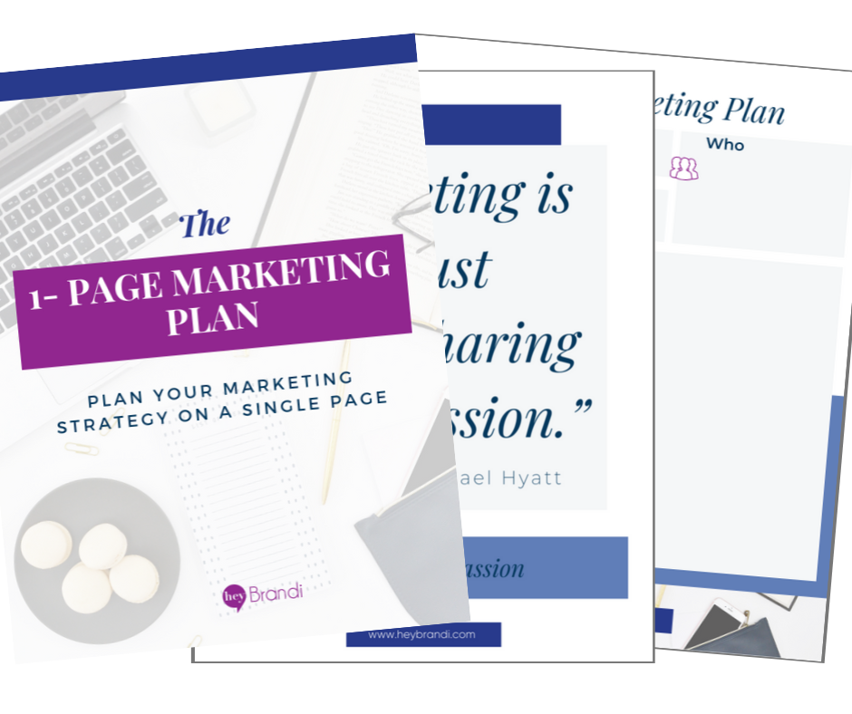 The One Page Marketing Plan