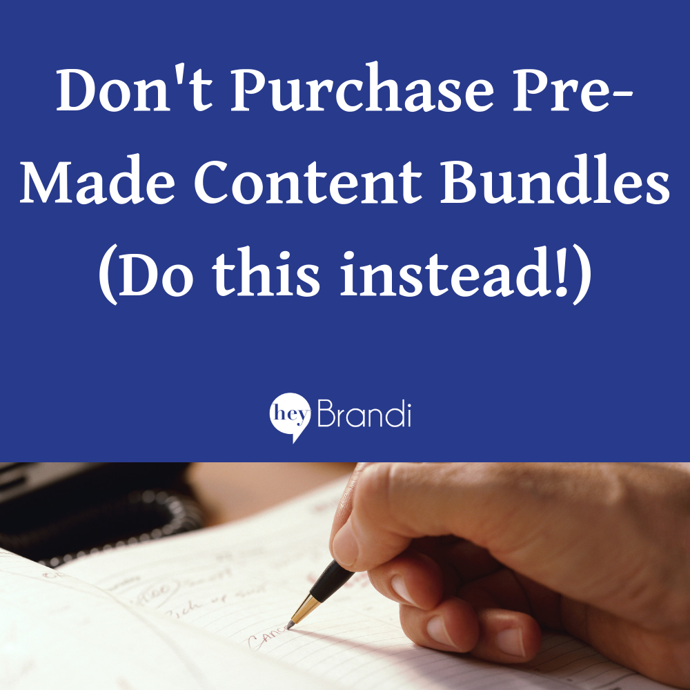 Don't Purchase Pre-Made Content Bundles ( & What to Do Instead!)