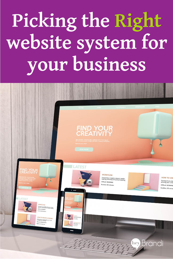 Picking the Right Website System for your Business