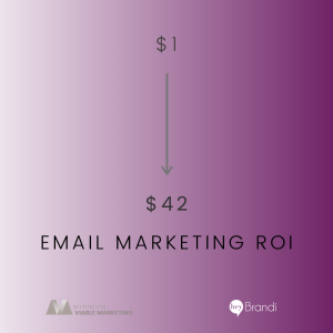 Average of $42 ROI on Email Marketing
