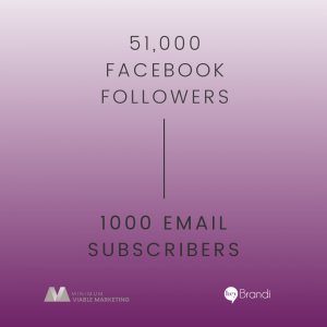 51,000 Facebook Followers is about the same as 1000 Email Subscribers