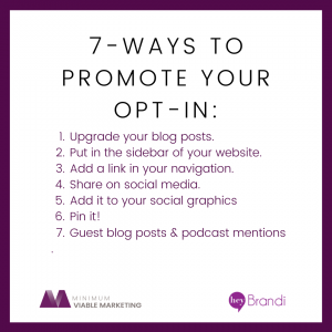 7 Ways to Promote Your Email Opt-In
