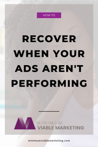 How to recover when your ads stop working